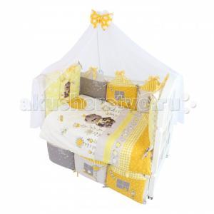 Комплект в кроватку  Basik Village (7 предметов) 120х60 Золотой Гусь