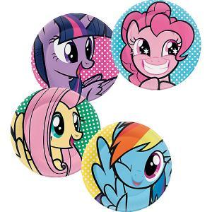 Набор тарелок для праздника My Little Pony Вечеринка Пинки Пай 4шт. Daisy Design