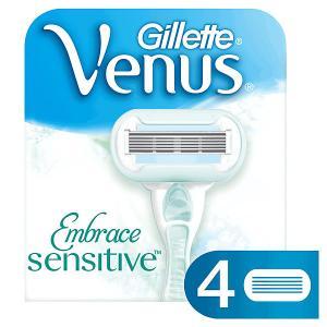 Сменные кассеты для бритвы  Venus Sensitive (для чувствительной кожи), 4 шт Gillette