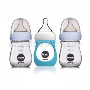 Набор стеклянных бутылочек с силиконовым чехлом Boob Baby 150 мл Joovy