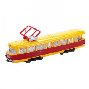 Инерционная машина  Трамвай желтый 16.5 см Технопарк