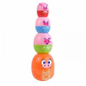 Развивающая игрушка  Пирамидка-матрешка Мама-хрюшка Happy Kid Toy