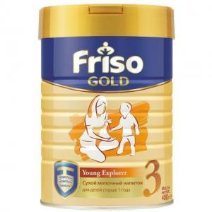 Напиток сухой  Фрисолак Gold 3 на молочной основе с 12 месяцев, 400 г Friso