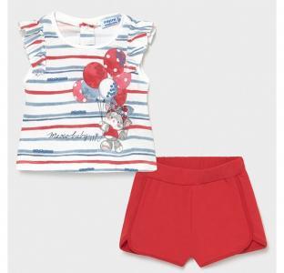 Комплект для девочки (шорты, футболка) Кошечка с воздушными шариками 1232 Mayoral