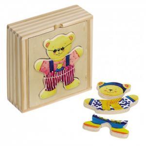 Пазлы в коробке Одень медвежонка (18 деталей) Goki