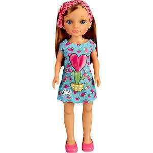 Кукла-модница  Нэнси шатенка, 42 см Famosa. Цвет: голубой