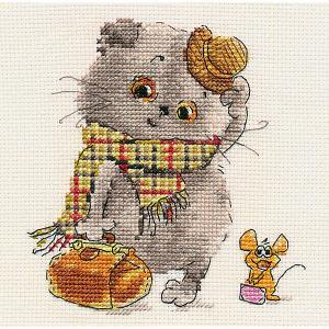 Набор для вышивания  Басик и Милена: В гости к Вам 13х13 см Алиса