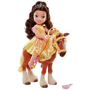 Кукла Принцессы Дисней Принцесса с животным из мультфильма: Belle Jakks Pacific. Цвет: желтый