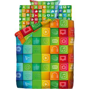 Детское постельное белье 1,5 сп 4 YOU «Социальные сети» 4YOU. Цвет: зеленый