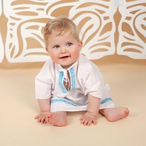 Крестильная рубашка для мальчика Владимир Makkaroni Kids