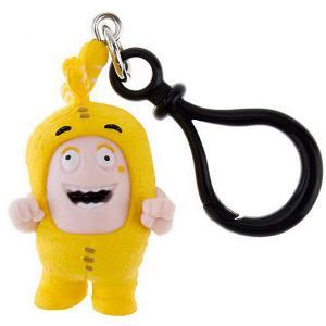 Брелок фигурка-чудик  Баблз, 3 см Oddbods. Цвет: желтый
