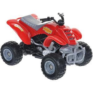 Мотоцикл  Quadrobike Monster 1:16, красный Autotime. Цвет: красный