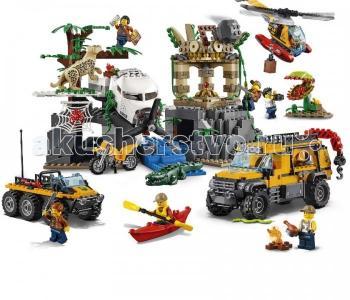 Конструктор  City 60161 Лего Город База исследователей джунглей Lego