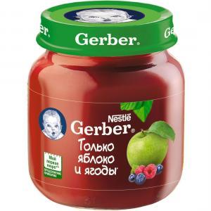 Пюре  яблоко с лесными ягодами 5 месяцев, 130 г Gerber