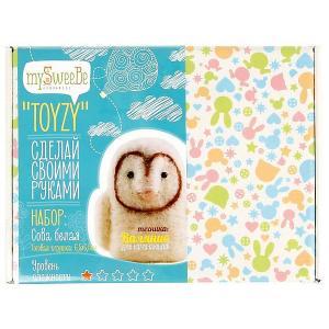 Набор для валяния Toyzy Белая сова. Цвет: разноцветный
