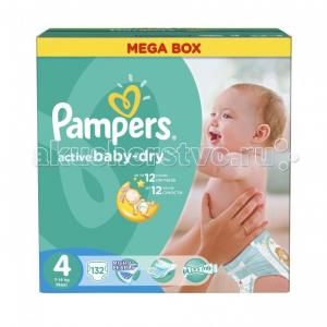 Подгузники Active Baby Dry Maxi р.4 (9-14 кг) 132 шт. Pampers
