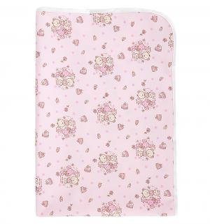 Пеленка  непромокаемая для кровати с рисунком 60 х 90, 1 шт, цвет: розовый Multi-Diapers