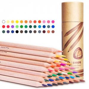 Карандаши цветные трехгранные в картонном тубусе 36 цветов Deli