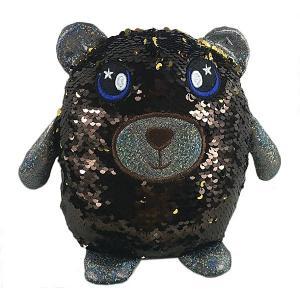 Мягкая игрушка  Медведь с пайетками, 20 см ABtoys. Цвет: коричневый