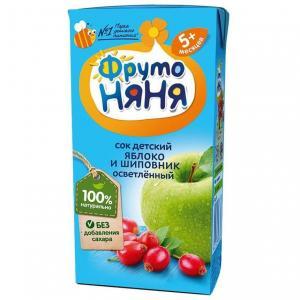 Восстановленный сок  яблоко-шиповник, 200 мл ФрутоНяня
