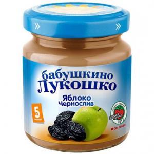 Пюре  яблоко-чернослив с 5 месяцев, 100 г Бабушкино лукошко