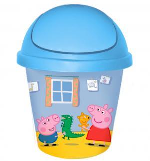 Детская мусорная корзина круглая  Свинка Пеппа, 7 л Little Angel