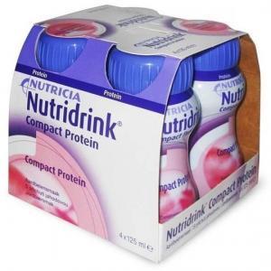 Молочная смесь  Compact Protein клубника №4 с 3 лет, 125 г Nutridrink