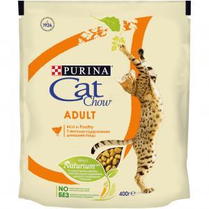 Корм сухой  Naturium для взрослых кошек, индейка/курица, 400г Cat Chow