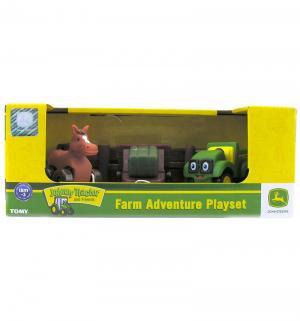 Игровой набор  Приключения трактора Джонни и его друзей на ферме с лошадкой Tomy
