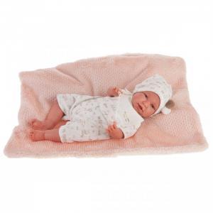 Кукла Реборн младенец Урсула в белом 52 см Munecas Antonio Juan