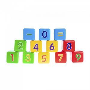 Развивающая игрушка  Набор кубиков Первая математика Пластмастер