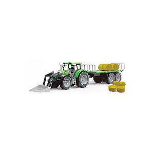 Трактор  с тюками сена QunXing Toys
