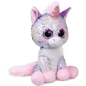 Мягкая игрушка  Единорог Жемчужина, сиреневый Fancy. Цвет: розовый/белый
