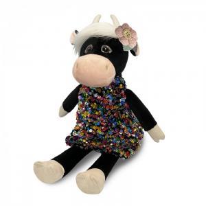Мягкая игрушка  Коровка Даша в цветном платье 28 см Maxitoys
