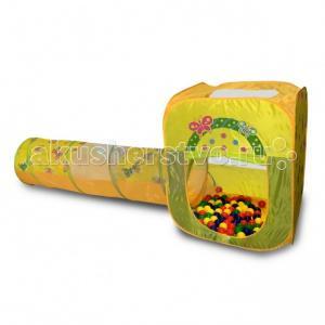 Ching-Ching Игровой домик квадратный + туннель 100 шариков BabyOne