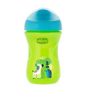 Чашка-поильник  Easy cup Зебра, с 12 месяцев, цвет: зеленый Chicco