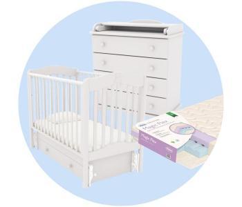 Детская кроватка  Ванечка с комодом Аистенок и матрасом Плитекс Magic Flex Гандылян