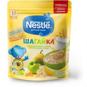 Каша  молочная 5 злаков яблоко-банан-груша Шагайка с 12 месяцев 200 г Nestle