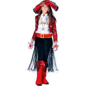 Карнавальный костюм  Леди Пират для девочки Veneziano. Цвет: разноцветный