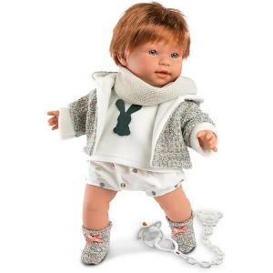 Кукла  Кристиан 42 см, со звуком Llorens. Цвет: серый