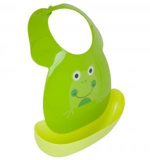 Слюнявчик  С козырьком, цвет: зеленый Ням-Ням