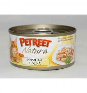 Влажный корм  для взрослых кошек, куриная грудка, 70г Petreet