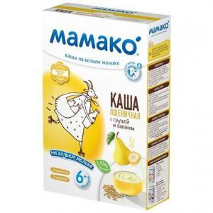 Каша  молочная пшеничная с грушей и бананом на козьем молоке 6 месяцев 200 г Мамако