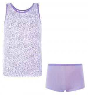 Комплект майка/трусы , цвет: фиолетовый Tiger baby & kids