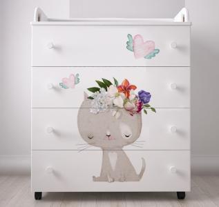 Комод  kids Cute Kitty пеленальный Forest