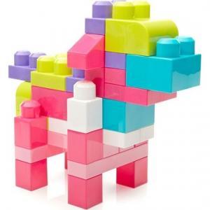 Конструктор  Большая строительная сумка классическая розовая, 80 дет. Mega Bloks