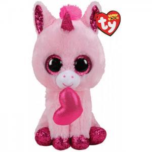 Мягкая игрушка  Дарлин единорог с сердечком 15 см TY