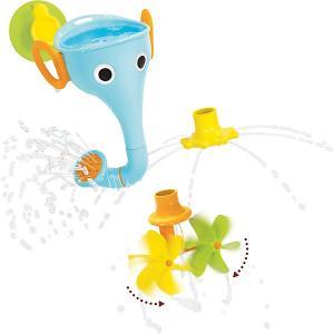 Игрушка для купания  Веселый слон Yookidoo. Цвет: синий