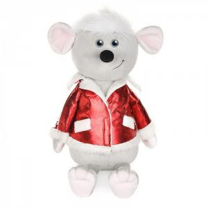 Мягкая игрушка  Luxury Мышонок Виталик в куртке 28 см Maxitoys