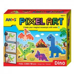 Аква мозаика из пикселей Динозавры 12/24 Amos